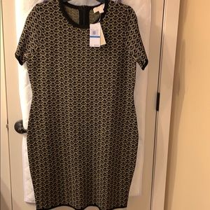 Michael Kors NWT Black and gold cocktail dress